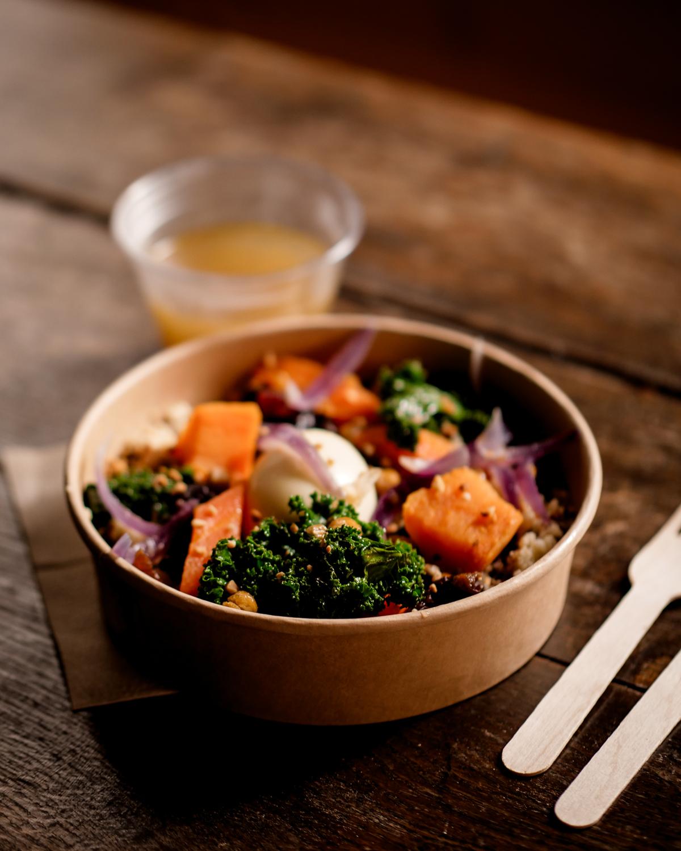 Plat végétarien à emporter du Lichen Bordeaux